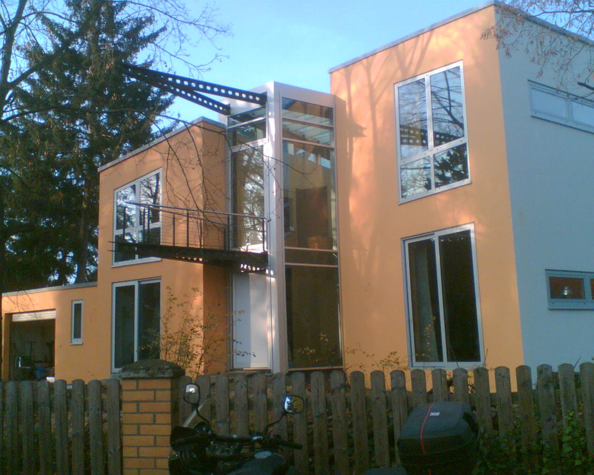 EFH - Aluminiumfenster mit Glasatrium, Glienecke